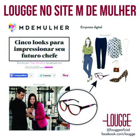 Lougge no site M de Mulher