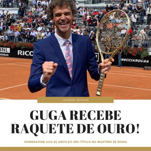 #LouggeNotícias - Guga recebe Raquete de Ouro pelos 20 anos de título em Roma